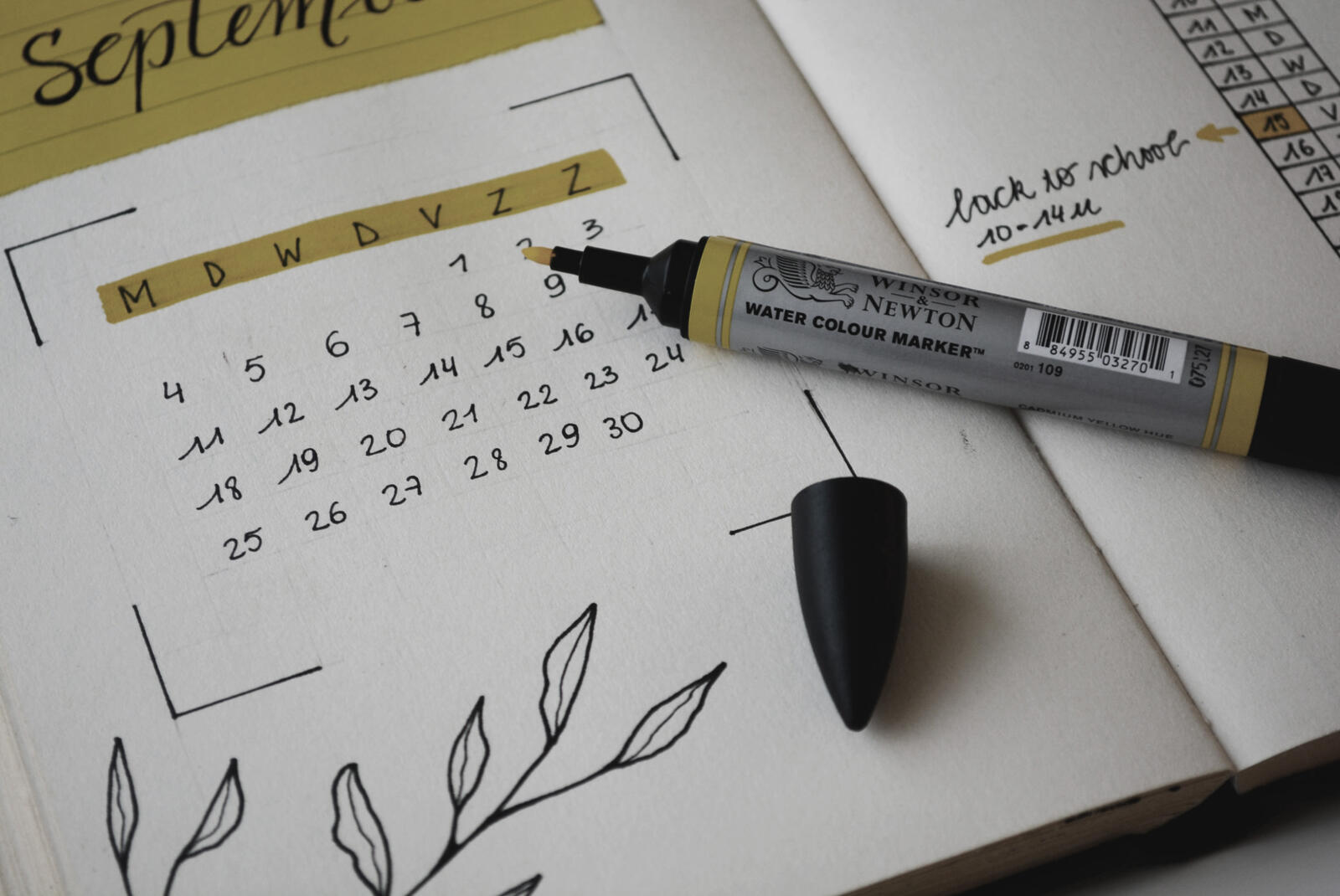 Terminkalendar mit markierten Tagen
